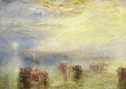Turner, Joseph Mallord William: Approach to Venice. Fine Art Print.  (003545)
