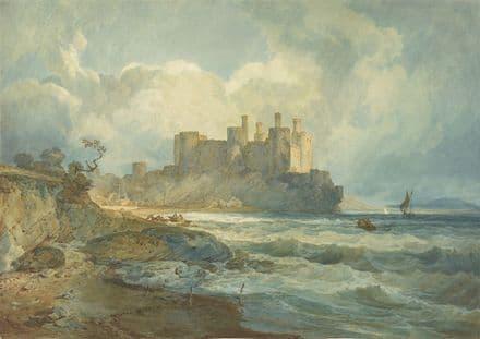 Turner, Joseph Mallord William: Conway Castle, North Wales. Fine Art Print.  (004150)