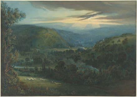 Turner, Joseph Mallord William: Dawn in the Valleys of Devon. Fine Art Print.  (003543)