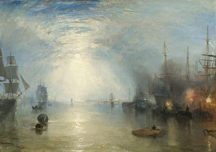 Turner, Joseph Mallord William: Keelmen Heaving in Coals by Moonlight. Fine Art Print.  (003542)