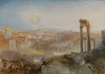 Turner, Joseph Mallord William: Modern Rome - Campo Vaccino. Fine Art Print.  (004152)