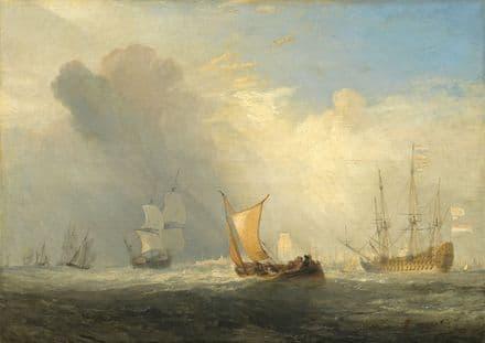 Turner, Joseph Mallord William: Rotterdam Ferry-Boat. Fine Art Print.  (003541)
