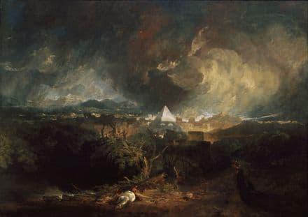 Turner, Joseph Mallord William: The Fifth Plague of Egypt. Fine Art Print.  (004054)