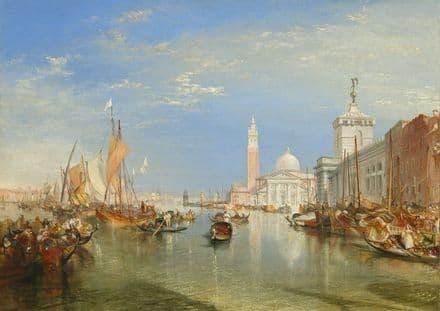 Turner, Joseph Mallord William: Venice - The Dogana and San Giorgio Maggiore.  (003538)
