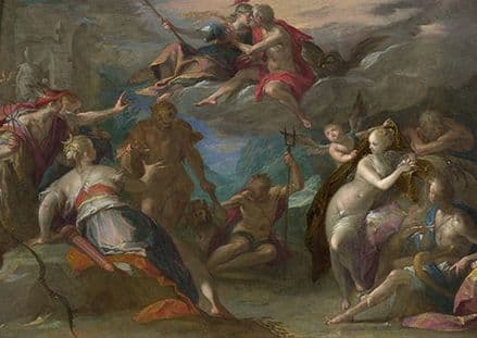 Aachen, Hans von: The Amazement of the Gods. Fine Art Print/Poster. Sizes: A4/A3/A2/A1 (002047)