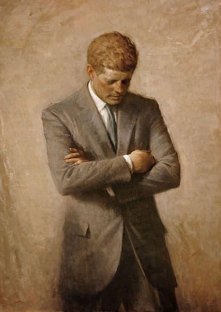 Aaron Shikler: John F. Kennedy Official White House Portrait. Print/Poster (4919)