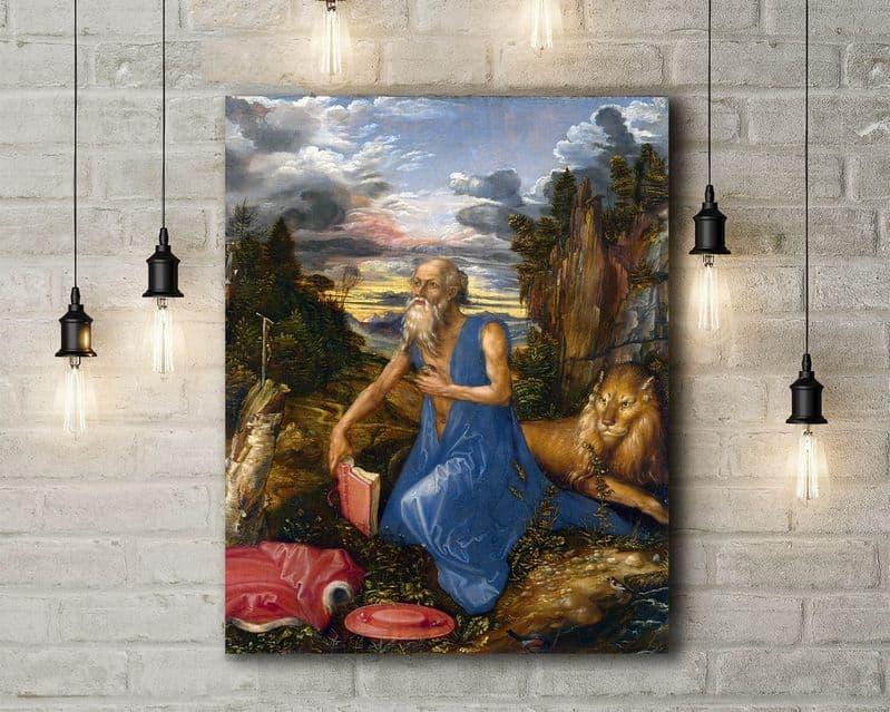 Albrecht Durer: Saint Jerome. Fine Art Canvas.