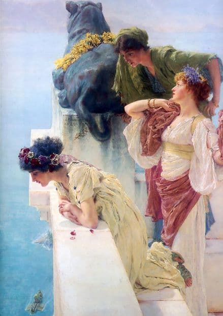 Alma-Tadema, Sir Lawrence: A Coign of Vantage. Fine Art Print/Poster. Sizes: A4/A3/A2/A1 (003804)