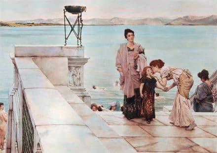 Alma-Tadema, Sir Lawrence: A Kiss. Fine Art Print/Poster. Sizes: A4/A3/A2/A1 (003802)