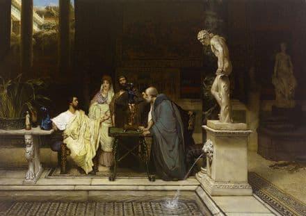 Alma-Tadema, Sir Lawrence: A Roman Art Lover. Fine Art Print/Poster. Sizes: A4/A3/A2/A1 (003811)