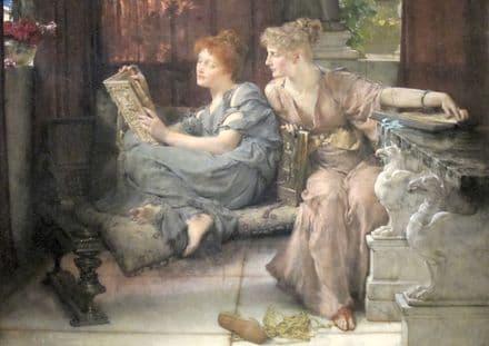 Alma-Tadema, Sir Lawrence: Comparison. Fine Art Print/Poster. Sizes: A4/A3/A2/A1 (003785)