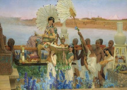 Alma-Tadema, Sir Lawrence: The Finding of Moses. Fine Art Print/Poster. Sizes: A4/A3/A2/A1 (003794)
