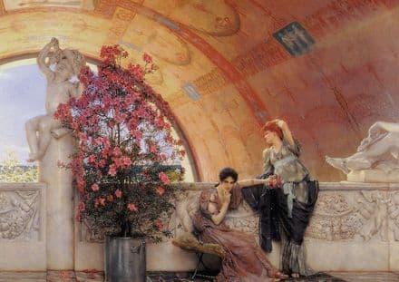 Alma-Tadema, Sir Lawrence: Unconscious Rivals. Fine Art Print/Poster. Sizes: A4/A3/A2/A1 (00658)