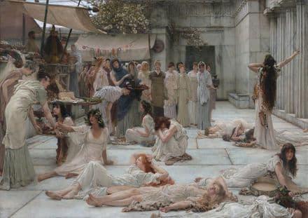 Alma-Tadema, Sir Lawrence: Women of Amphissa. Fine Art Print/Poster. Sizes: A4/A3/A2/A1 (003795)