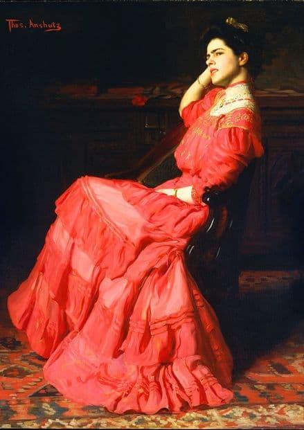 Anshutz, Thomas : A Rose. Fine Art Print/Poster (5233)