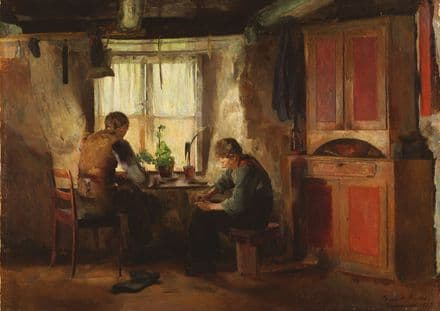 Backer, Harriet: A Country Cobbler. Fine Art Print/Poster (5442)