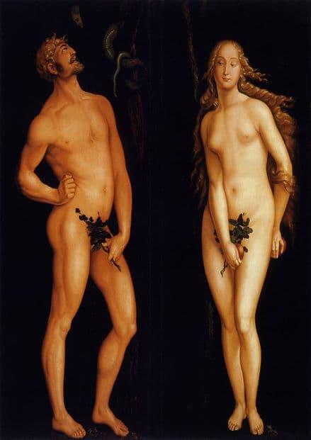 Baldung Grien, Hans: Adam and Eve. Biblical Fine Art Print/Poster. Sizes: A4/A3/A2/A1 (00448)