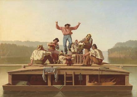 Bingham, George Caleb: The Jolly Flatboatmen. Fine Art Print/Poster. Sizes: A4/A3/A2/A1 (003564)