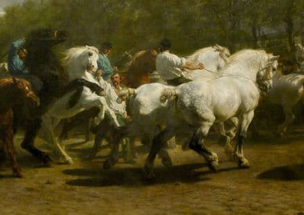 Bonheur, Rosa: The Horse Fair. Fine Art Print/Poster. Sizes: A4/A3/A2/A1 (001607)