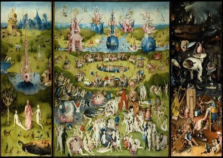 Bosch, Hieronymus: The Garden of Earthly Delights. Fine Art Print/Poster. Sizes: A4/A3/A2/A1 (00233)