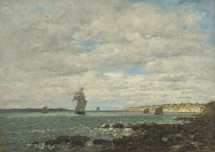Boudin, Eugene: Coast of Brittany. Fine Art Print/Poster. Sizes: A4/A3/A2/A1 (003965)