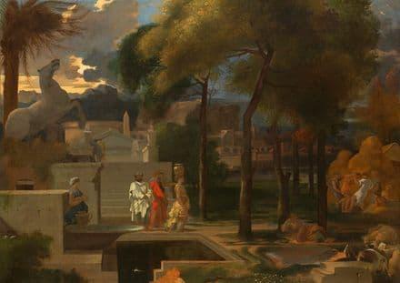 Bourdon, Sebastien: A Classical Landscape. Fine Art Print/Poster (5257)