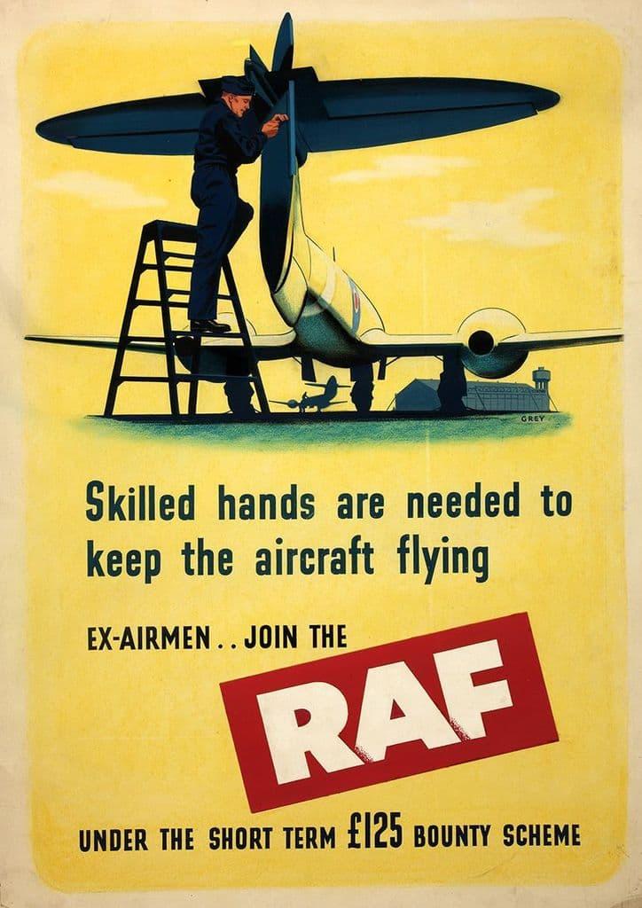British RAF (Royal Air Force) Recruitment Print/Poster. Sizes: A4/A3/A2/A1 (00915)
