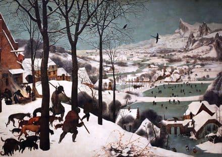 Bruegel the Elder, Pieter: Hunters in the Snow. Fine Art Print/Poster. Sizes: A4/A3/A2/A1 (00235)