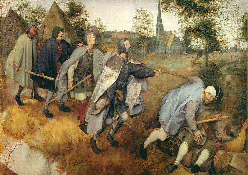Bruegel the Elder, Pieter: Parable of the Blind. Fine Art Print/Poster. Sizes: A4/A3/A2/A1 (003599)