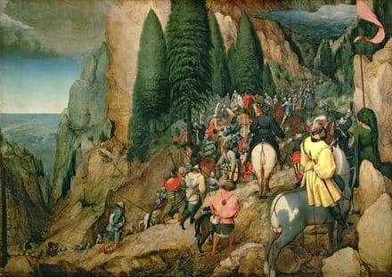 Bruegel the Elder, Pieter: The Conversion of St Paul. Fine Art Print/Poster. Sizes: A4/A3/A2/A1 (003572)
