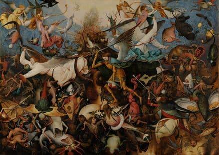 Bruegel the Elder, Pieter: The Fall of the Rebel Angels. Fine Art Print/Poster. Sizes: A4/A3/A2/A1 (002008)