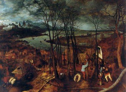 Bruegel the Elder, Pieter: The Gloomy Day. Fine Art Print/Poster. Sizes: A4/A3/A2/A1 (00866)