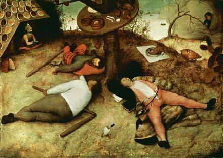 Bruegel the Elder, Pieter: The Land of Cockaigne. Fine Art Print/Poster. Sizes: A4/A3/A2/A1 (002005)
