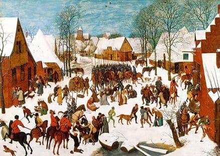 Bruegel the Elder, Pieter: The Massacre of the Innocents. Fine Art Print/Poster. Sizes: A4/A3/A2/A1 (002007)