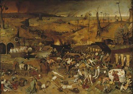 Bruegel the Elder, Pieter: The Triumph of Death. Fine Art Print/Poster. Sizes: A4/A3/A2/A1 (00239)