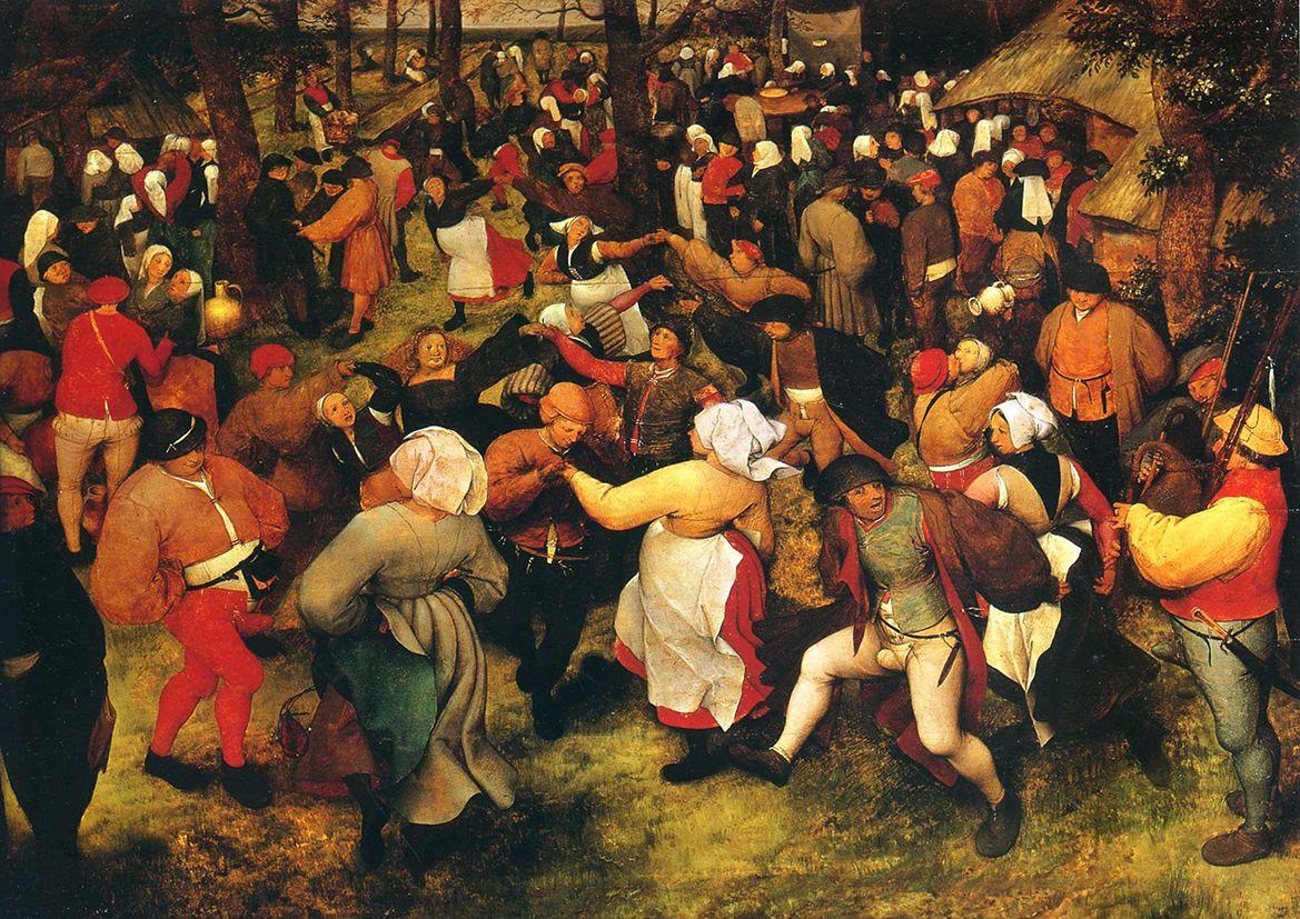 Bruegel the Elder, Pieter: Wedding Dance in the Open Air. Fine Art Print/Poster. Sizes: A4/A3/A2/A1 (003103)