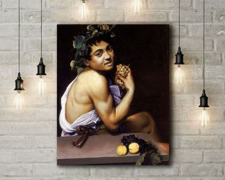 Caravaggio: Young Sick Bacchus. Fine Art Canvas.
