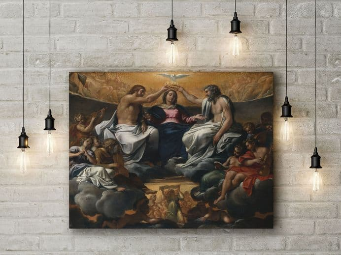 Carracci: The Coronation of the Virgin. Fine Art Canvas.