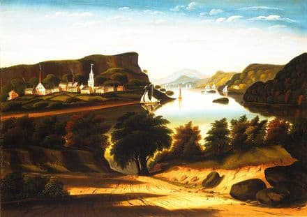 Chambers, Thomas: Lake George and the Village of Caldwell. Fine Art Print/Poster (5352)