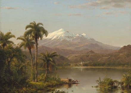 Church, Edwin Frederic: Tamaca Palms. Fine Art Print/Poster (4941)