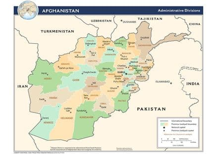 CIA Administrative Map of Afghanistan 2009 Print/Poster (5204)