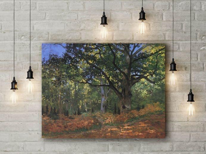 Claude Monet: Bodmer Oak Fontainbleau Forest. Fine Art Canvas.