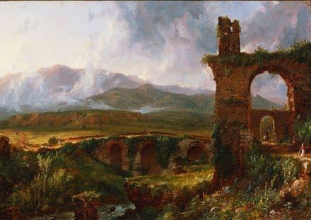 Cole, Thomas: A View Near Tivoli (Morning).  Fine Art Print/Poster (5355)