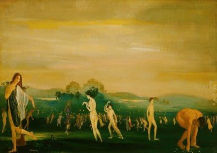 Davies, Arthur Bowen: Elysian Fields. Fine Art Print/Poster. Sizes: A4/A3/A2/A1 (002617)