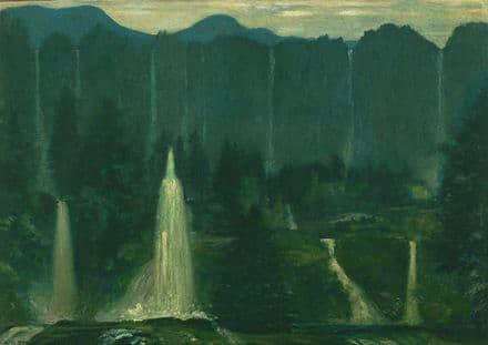 Davies, Arthur Bowen: Many Waters. Fine Art Print/Poster. Sizes: A4/A3/A2/A1 (004331)