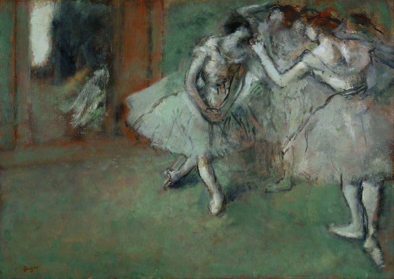 Degas, Edgar: A Group of Dancers. Fine Art Print/Poster. Sizes: A4/A3/A2/A1 (003733)