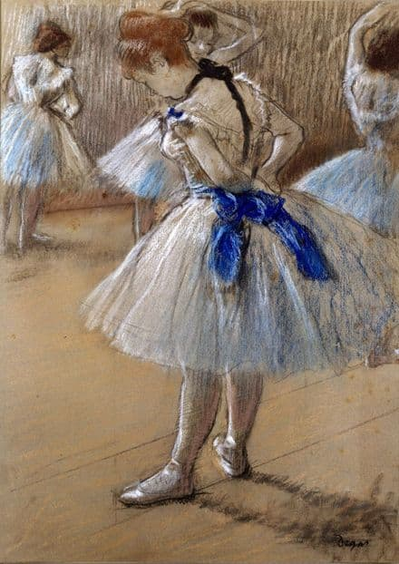 Degas, Edgar: Dancer. (Ballet/Ballerina) Fine Art Print/Poster. Sizes: A4/A3/A2/A1 (00466)