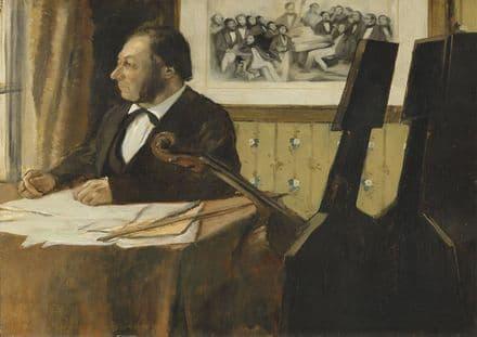 Degas, Edgar: The Cellist Pilet. Fine Art Print/Poster. Sizes: A4/A3/A2/A1 (003764)