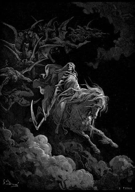 Dore, Gustave: Death on a Pale Horse. Fine Art Print/Poster (4818)
