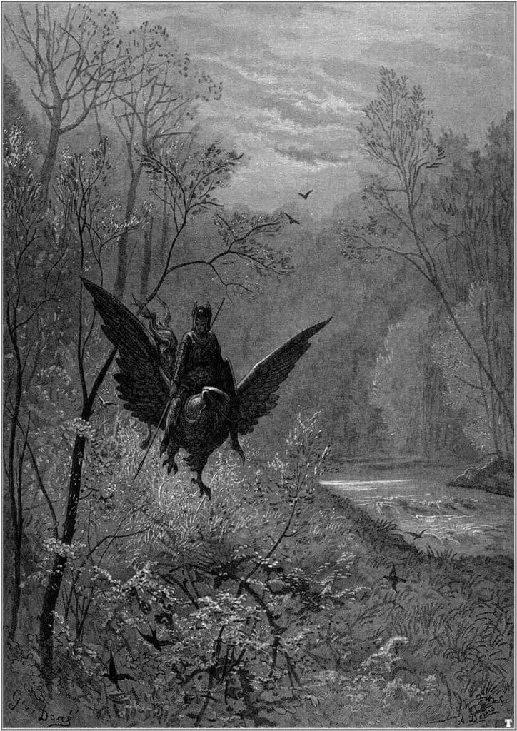 Dore, Gustave: Orlando Furioso. Fine Art Print/Poster. Sizes: A4/A3/A2/A1 (001835)